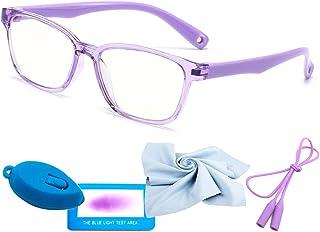 Blue Light Glasses For Kids Fashion Glasses Computer For Anti Eyestrain Anti Glare Lens Frame Eyeglasses With Strap Teen G...