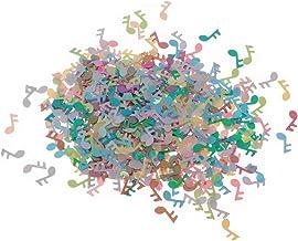 SUPVOX 1 paquete de 15 g Nota musical Confeti Confeti de papel Confeti de boda Confeti de mesa para o manualidades DIY Arte y decoración de uñas (color mágico)