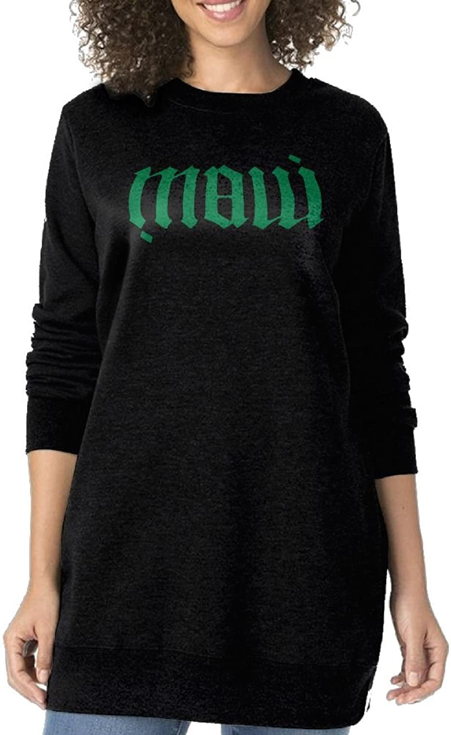 JDong618 Delicate Soft Long Sleeve Create Maui Tattoo Sweater Hoodies Black For Women