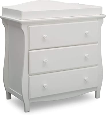 Delta Children Lancaster 3 Drawer Dresser with Changing Top
