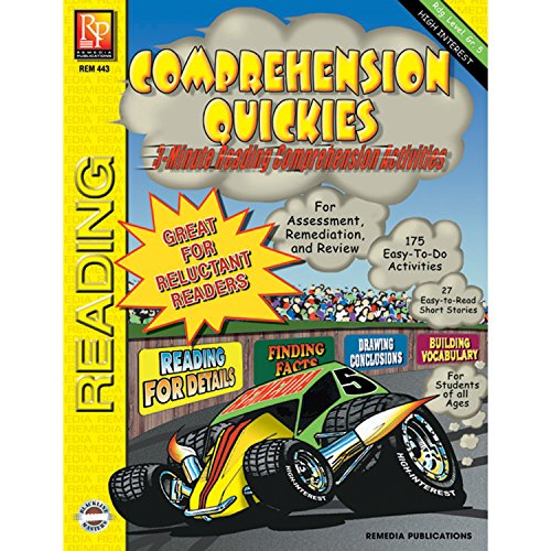 REMEDIA PUBLICATIONS Quickies Reading Level 5 Multicolor Book Comprehension Workbook