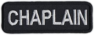 Motorcycle Biker Jacket or Vest Patch - Chaplain - Member Rank, Position, Status Patch