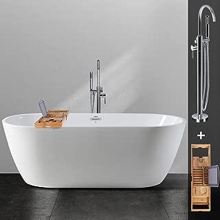 freestanding whirlpool jetted bathtub