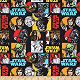Camelot Fabrics Star Wars Characters Flannel Multi Fabric by the Yard