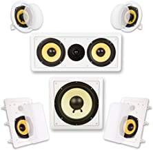 Acoustic Audio HD515 in-Wall/Ceiling Home Theater Surround 5.1 Speaker System