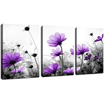 Wick Purple Black 3 Sizes Canvas ready to hang Wall Art living room Bedroom