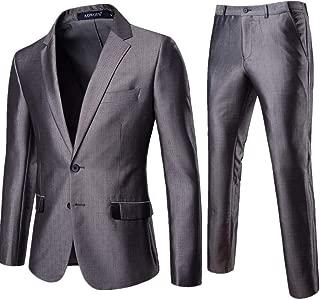 Premium Suit Skinny Suit in Grey 2-Piece Business Leisure,Full Dress Blazer+Pant Wedding Suit