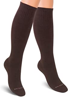 Cotton Compression Socks Women. Support Stockings. Knee-High, 1 pair