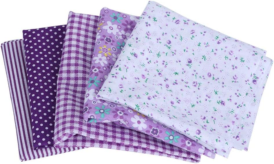 HERCHR 5pcs Fabric for Sewing Quilting Product Pre-Cut favorite Squares D