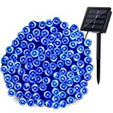 Joomer Solar String Lights 72ft 200 LED 8 Modes Outdoor String Lights Waterproof Solar Fairy Lights for Garden, Patio, Fence, Balcony, Outdoors (Blue)