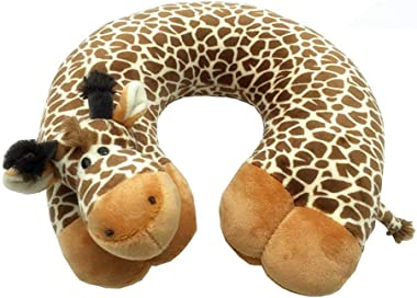 Zervatek U Shaped Cushion Neck Pillow Travel Pillow Plane Pillow Cartoon Animal Memory Foam Neck Support for Kids and Adults Great for Train, Airplane, Car, Bus (Giraffe)