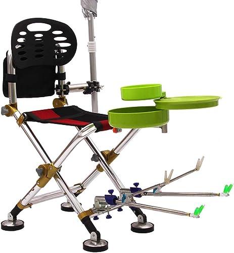 TCpick Chaise Pliante De Pêche Professionnelle, Chaise De Pêche De Camping en Plein Air Convient pour Les Pentes Les Escaliers etc