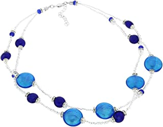 GlassOfVenice Murano Glass Adelina Necklace - Blue