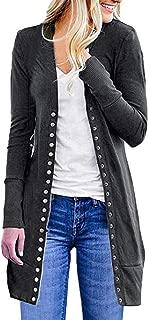 Loosebee◕‿◕ Women's Coat,Women's S-3XL Solid Button Front Knitwears Long Sleeve Casual Cardigans