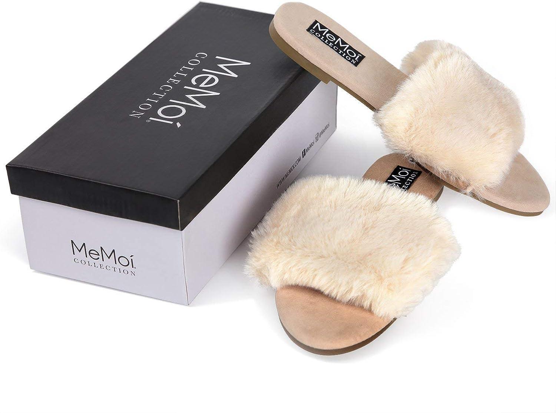 MeMoi Shannon Mule Slipper   Womens Hard Sole Luxury Slippers