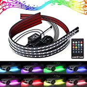 AMBOTHER LED Neon Car Underglow Kit Underbody Lights Strip 7 Colors pwixogkk64