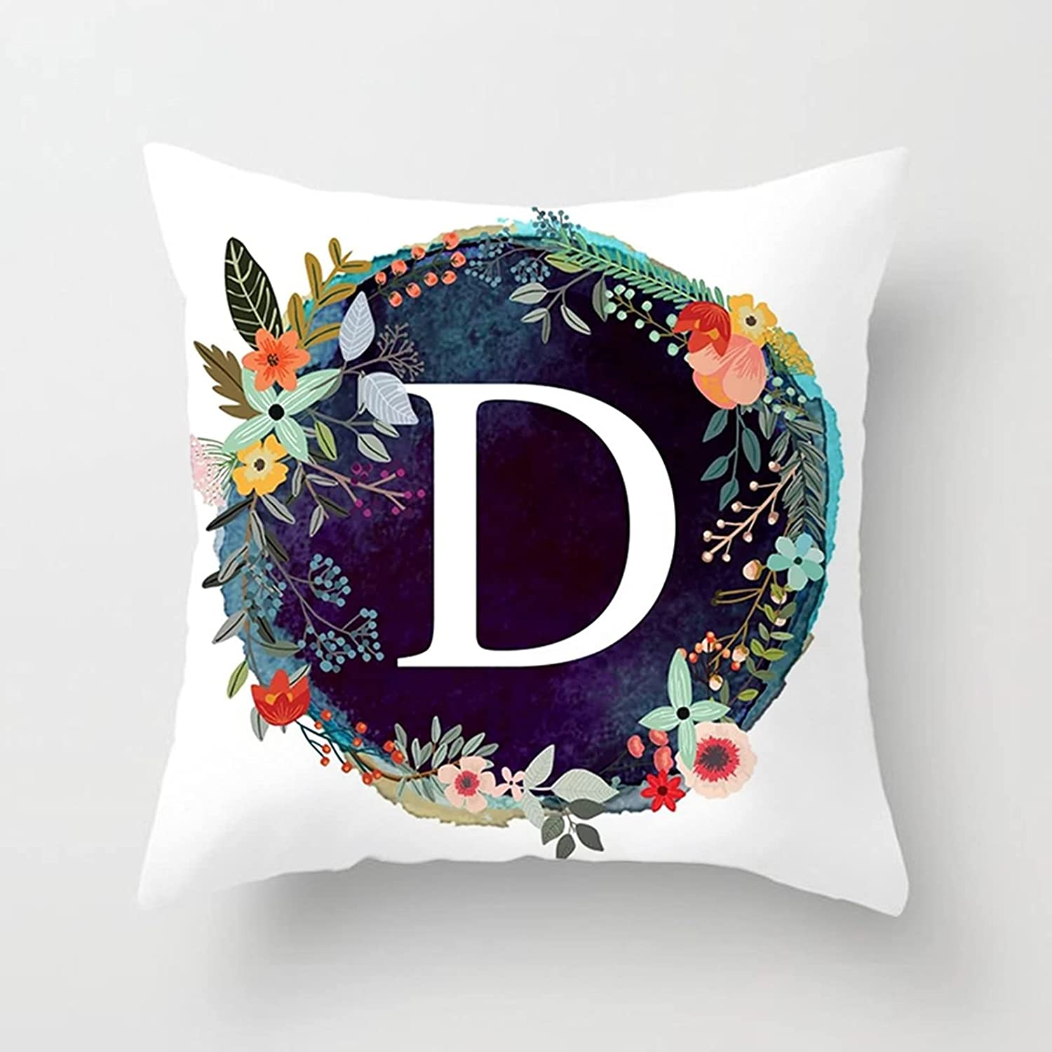 Daesar Throw Pillow Case Cover Cushion Blue Courier shipping free shipping Dark Special sale item Covers White O