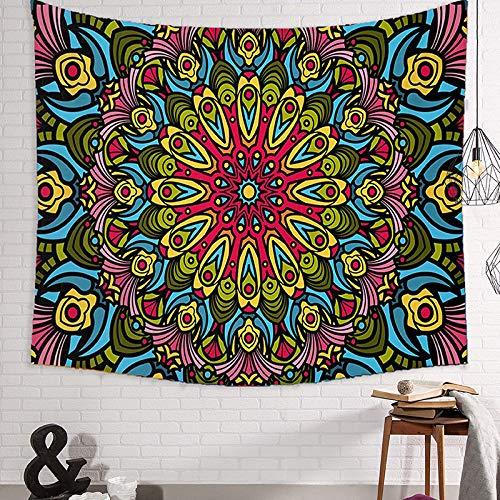 Trippy Hippi Tapiz Mandala Tapiz Colgante De Pared Impresión De Tela Color Art Tapices Para Dormitorio Colegio Dormitorio Sala De Estar Decoración De Pared Estética