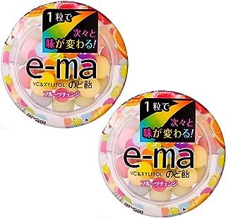 e-ma Cough Drop Colorful Fruit Change Case Type 2pcs Japanese Throat Candy Lotte Ninjapo