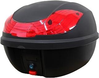 WEIMALL バイク リアボックス 30L トップケース バイクボックス バイク用ボックス 着脱可能式 大容量 原付 スクーター フルフェイス収納可能 ヘルメット入れ