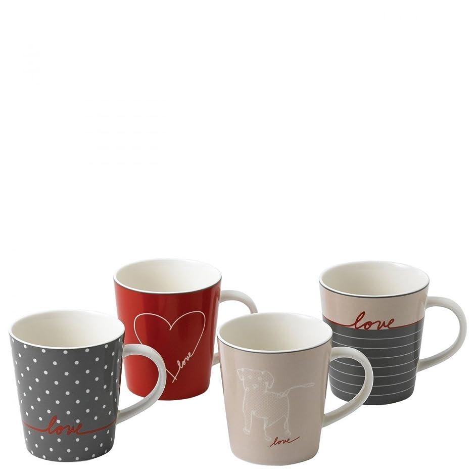 Signature Mug Set of 4, Elen Degeneres Collection by Royal Doulton