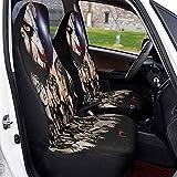 2PCS Juego de fundas de asientos delanteros para automóviles Stephen King´s It Protector del...