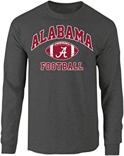 Elite Fan Shop NCAA Men's Football Long Sleeve T-Shirt Dark Heather