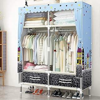 CXVBVNGHDF Armoire de Rangement Placard vêtements Organisateur de Placard Garde-Robe Portable avec 8 étagères, 4 tiroirs, ...