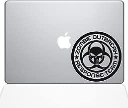"The Decal Guru Zombie Response Team Macbook Decal Vinyl Sticker  - 15"" Macbook Pro (2016 & newer) - Black (1275-MAC-15X-BLA)"