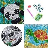 2 PCS Diamond Art for Kids, SPOKKI Small and Easy 5D Diamond Art Painting Kit Crystal Gems Embroidery for Girls Boys Beginners Art Crafts Christmas Kits