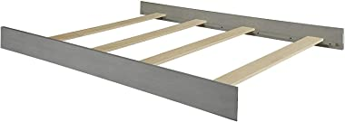 Full Size Conversion Kit Bed Rails for Oxford Baby Cribs (Arctic Gray)