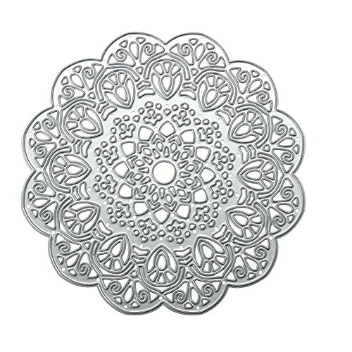 Demiawaking Mandala Cutting Dies Stencil Frame DIY Decoratie Embossing Sjabloon voor Scrapbooking Album Papier Kaart maken