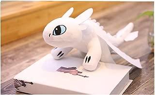 HitHopKing How to Train Your Toothless Plush Night Fury Plush Stuffed Animal Doll Toys Children Gift (White) (20cm)