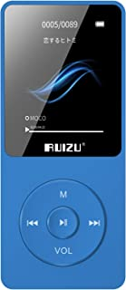 MP3 Player, RUIZU X02 16GB Ultra Slim Music Player with FM Radio,Voice Recorder,Video Play,Text Reading,80 Hours Playback ...