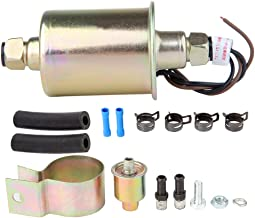 Universal 12V Low Pressure Electric Gas Fuel Pump with Installation Kit E8012S