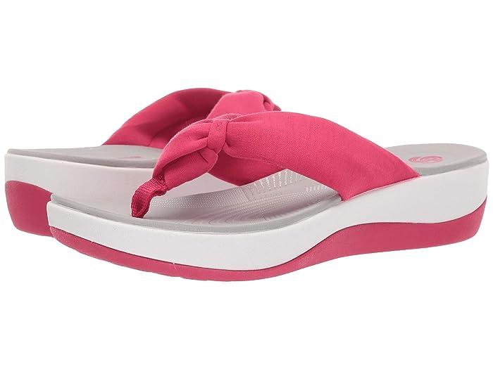 Clarks  Arla Glison (Bright Rose Solid Textile) Womens Sandals