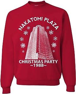 Nakatomi Plaza Christmas Party 1988 Classic McClane Die Hard Xmas Ugly Christmas Sweater Crewneck