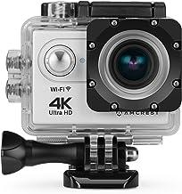 دوربین اکشن Amcrest GO 4K Sports 16MP لنز ، دوربین ضد آب در زیر آب ، بادامک WiFi ورزشی با زاویه دید 170 درجه با کیت لوازم جانبی 1 باتری و نصب از راه دور ، AC4K-600