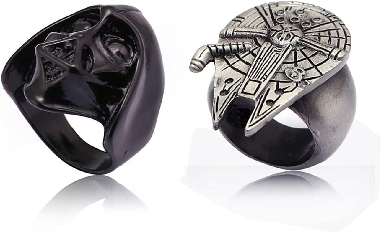 Max 41% OFF yqs Couple Ring Rings Max 64% OFF Classic Jedi Metal Symbol Rin Figure Alloy