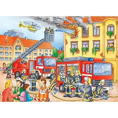 Puzzle 1000 Piezas Bombero apagando un incendio 70x50cm Rompecabezas para niños Adultos Juego Creativo Rompecabezas Navidad decoración del hogar Regalo puzzles