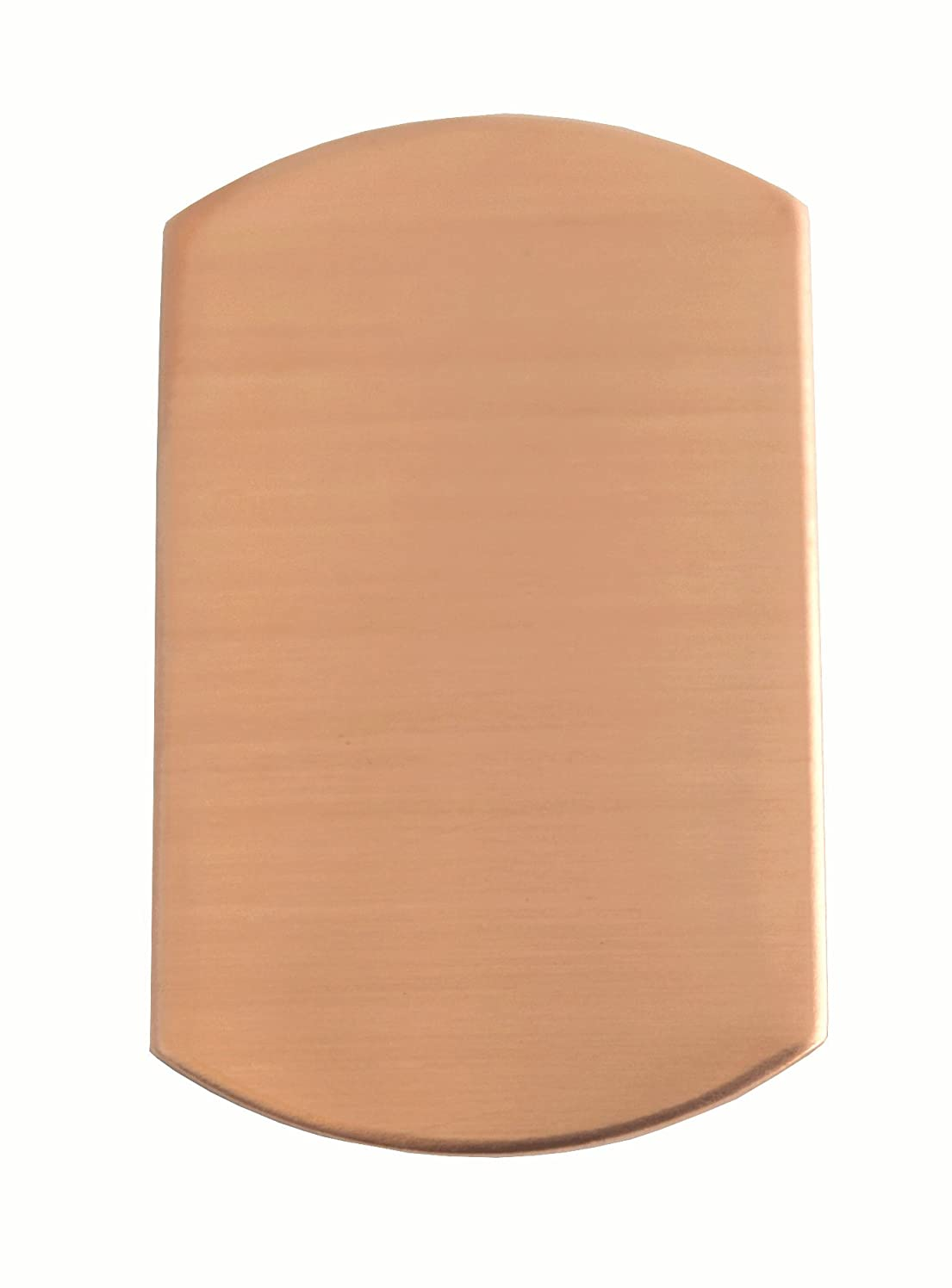 RMP Stamping Blanks, 3/4 Inch x 1-1/4 Inch Dog Tag, Copper 0.021
