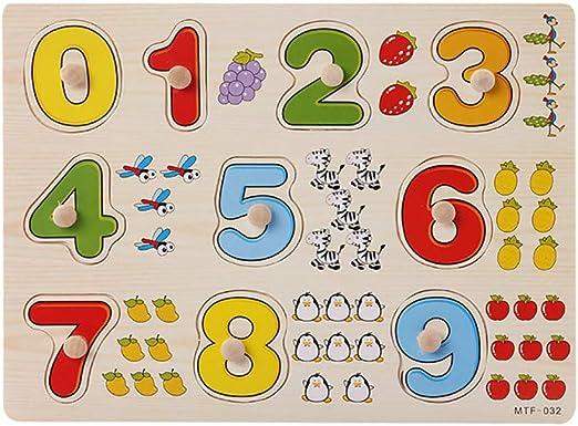 et/à: 12 mesi Puzzle educativo in legno per bambini e bambine Witspace 5 anni Legno 64b Oie Taille: 14,8 /× 14,8 /× 0,5 cm