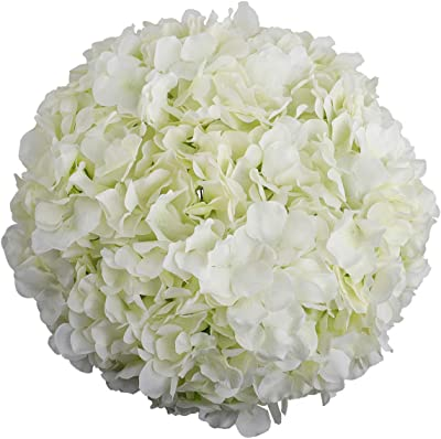 Hydrangea Heads Artificial Flowers with Stems for Home Wedding Decor,Pack of 10