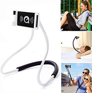 ZOEAST(TM) Hands Free Universal Cell Phone Neck Holder Stand Lazy Bracket DIY Free Rotating Mounts with Multiple Function Compatible All Phones Pad Tablet (White)