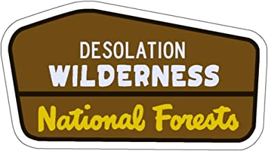 Camp & Craft Desolation Wilderness Trail Sign Vinyl Sticker - Hiking/Camping Decal for Car, Laptop, or Water Bottle