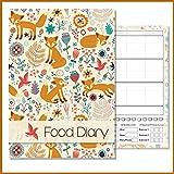 Ernährungstagebuch / Diätenbuch, A5, für Ihren eigenen Text, Blumenmuster