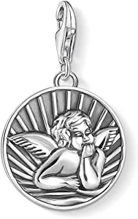Ethnique Pendentif Ange en Argent Sterling 24 mm Bijoux en Argent Artisanal - Cadeau - Femme - Homme - No/ël - Reyes - Anniversaire Shadi