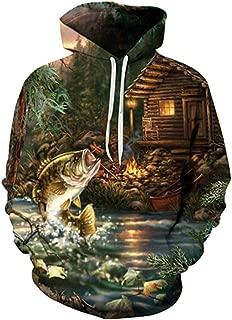3d fish hoodie