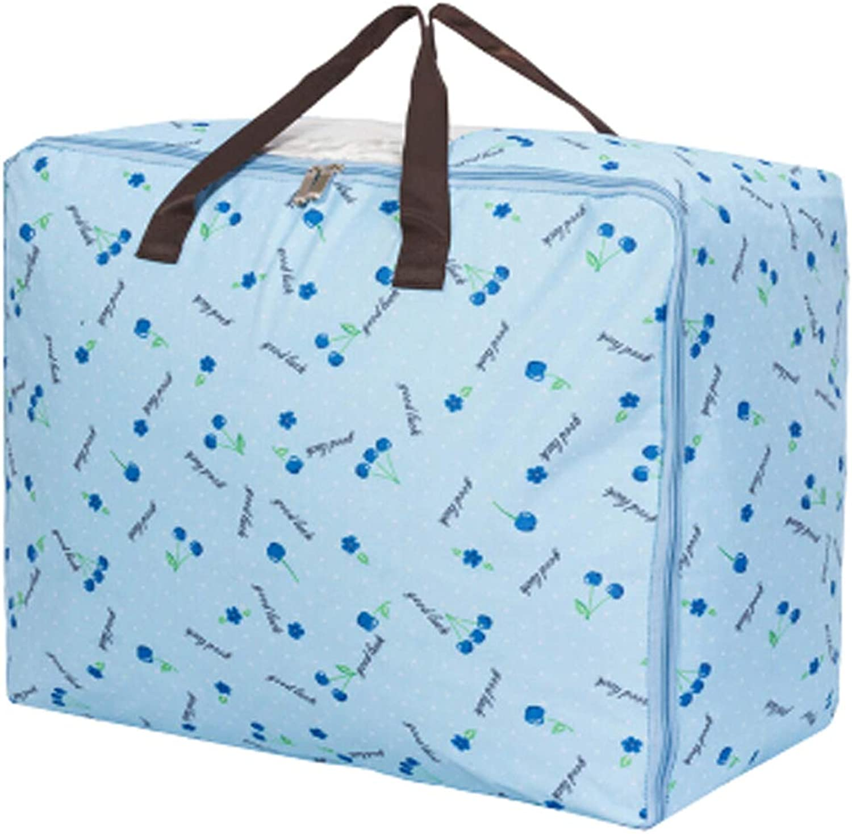 Two Oxford Waterproof Storage Quilt Bag Space Saver Bag Clothing Storage Box 60x47x30cm(bluee)