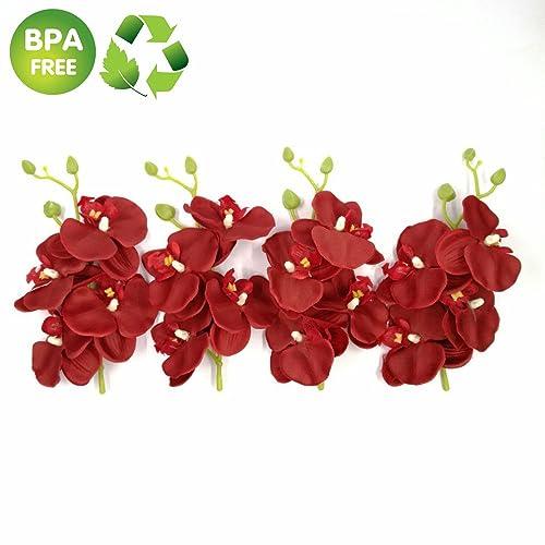 81b570824 Artificial Flowers Roses 4 Bunch (a Bunch = 4PCS) Handmade Flower Butterfly  Bouquet Wedding